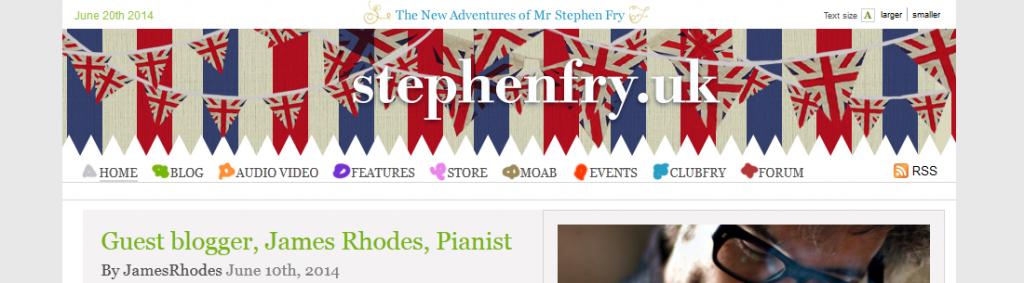 Stephen Fry .UK Domain