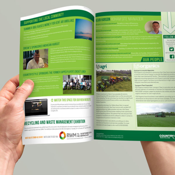 Recycling Newsletter Designed by TCmarketing