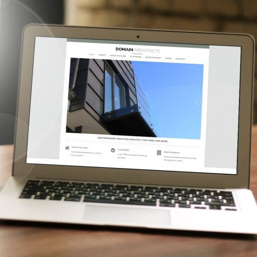 Architects Website designed by Tyler Consultants for Domain