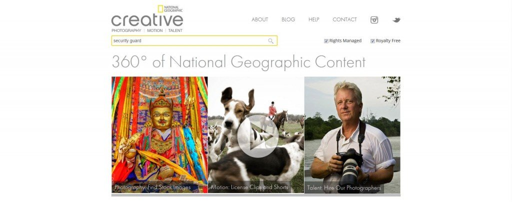 National Geographic Stock Photography Website