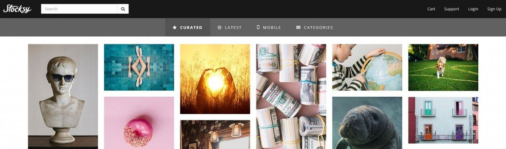Premium Stock Photography Website Stocksy - High Quality Images by Creative Photographers